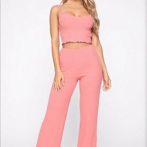 Fashion Nova Jackie Ribbed Pant set